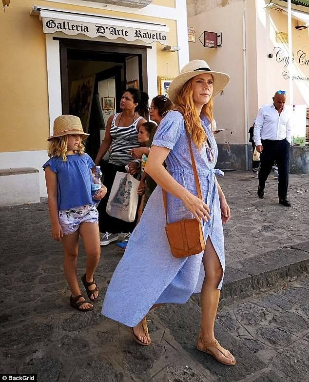 Amy Adams in Ravello for holiday